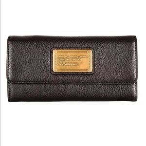 Marc Jacobs Black Classic Q Long Trifold Wallet